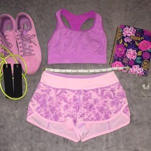 Ivivva by Lululemon Pink & Purple Shorts sz 12